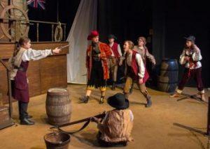Treasure Island - Jim Hawkins challenges the pirate gang