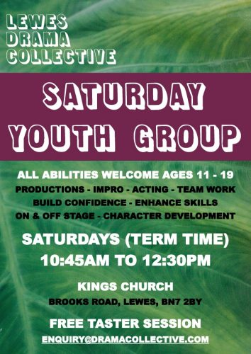 Lewes Drama Collective Saturday Youth Group Poster 2021 700px