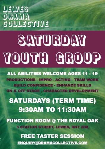 Lewes Drama Collective Saturday Youth Group Poster 1000px