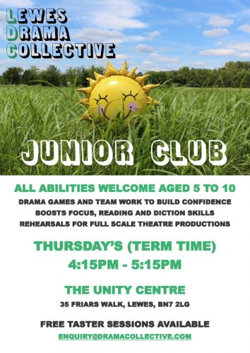 Lewes Drama Collective Thursday Junior Club Poster 1000px