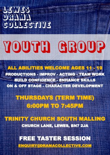 Lewes Drama Collective Thursday Youth Group Poster 1000px